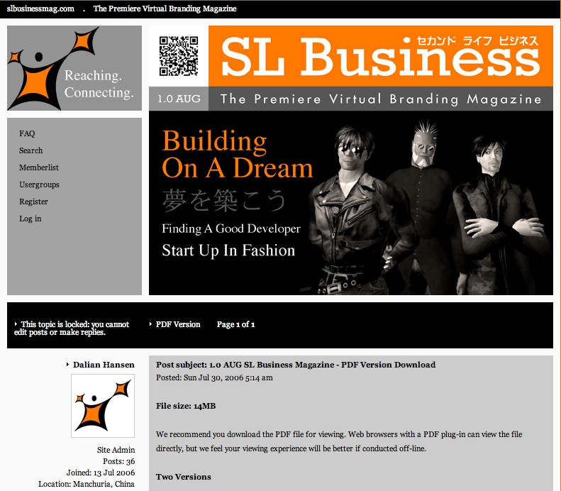 Second Life Business Magazine