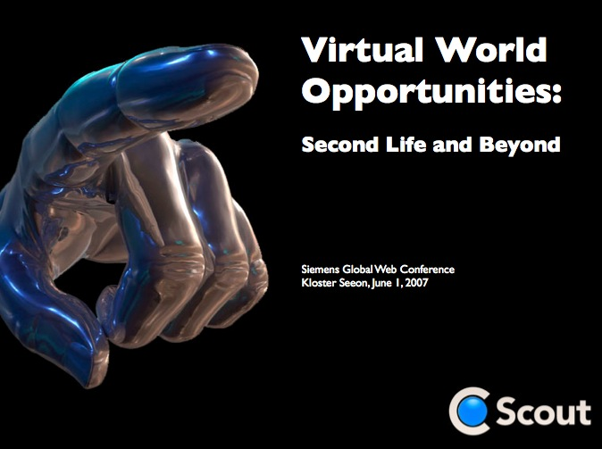 Second Life and Beyond - Speech Virtual World Opportunities: Second Life and Beyond
