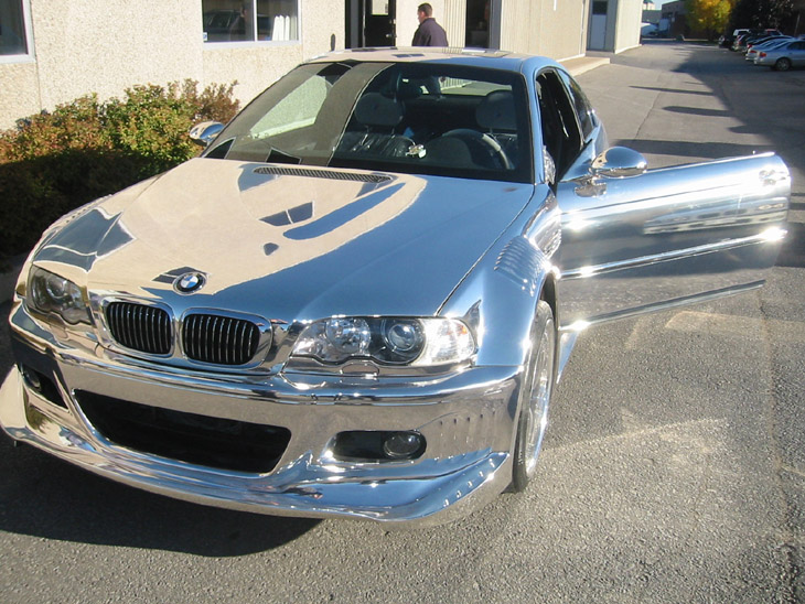 BMW Full Chrome Car