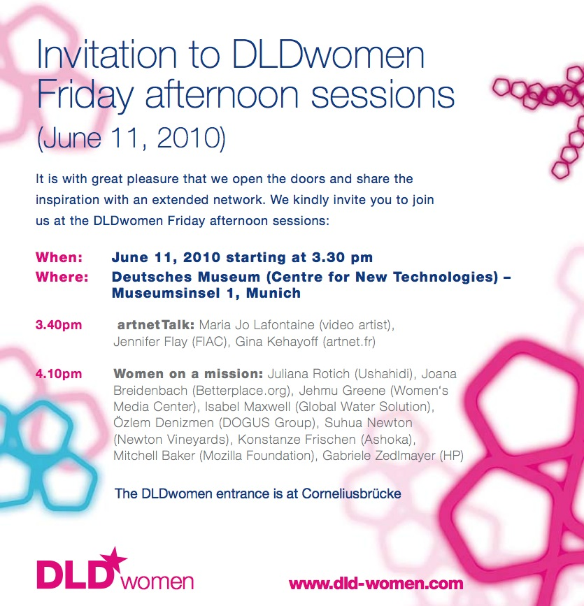 DLD Women Conference 2010 - Invitation