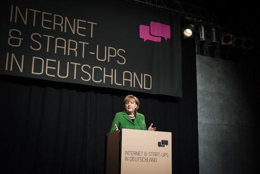 Angela-Merkel-StartUp-Szene