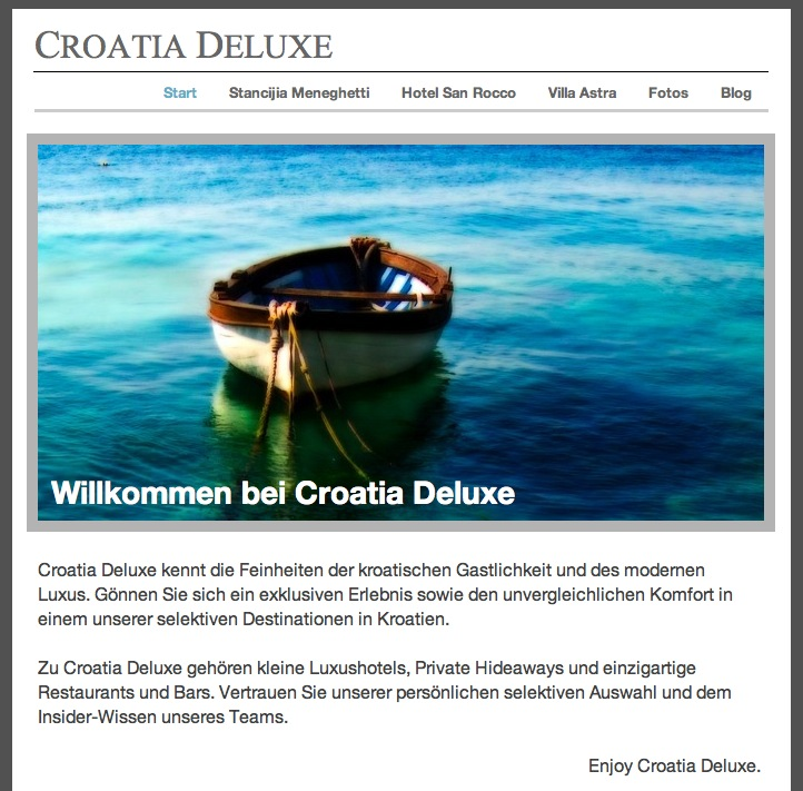 Croatia-Deluxe Website