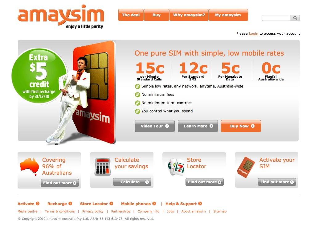 amaysim mobile communication Australia