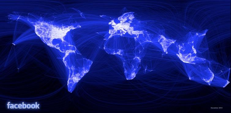 Facebook Global Friendship - Visualized